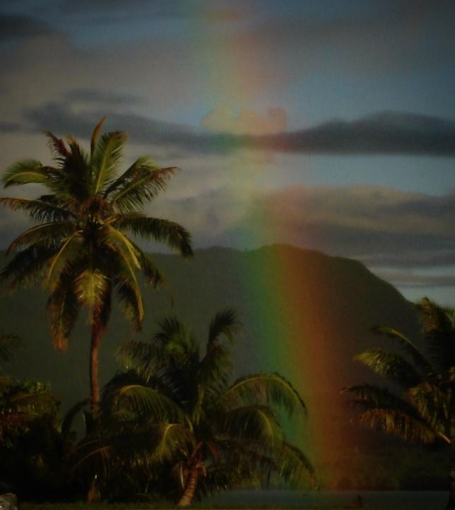 rainbowscape...sunset drama  rcb